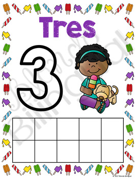 Number Mats 1-10 in Spanish