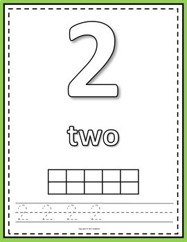 Number Mats 1 to 20 - Build, Color, Count, Trace, and Write