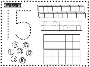 Teen Number Sense: Count & Write Numbers 11-20 CCSS K.CC.A.3