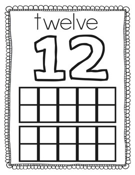 Number Mats 11 to 20