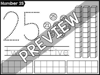 Number Sense Worksheets: Count & Write Numbers 21-30
