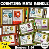 NEW! Number Mats Math Center BUNDLE - Counting 1-20