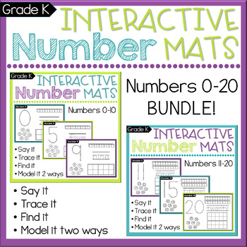 Number Sense: Count & Write Numbers to 20 BUNDLE CCSS K.CC.A.3