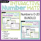 Number Sense Worksheets: Count & Write Numbers 0-20 BUNDLE