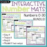 Number Sense Worksheets: Count & Write Numbers 0-30 BUNDLE