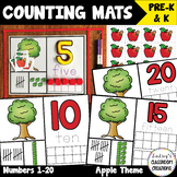 NEW! Number Mats Math Center - Counting 1-20 - Apples