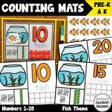NEW! Number Mats Math Center - Counting 1-20 - Fish Theme