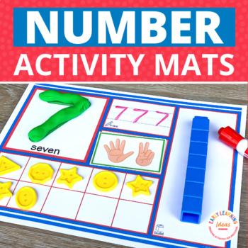 Number Sense Number Activity Mats & Playdough Mats  1-20