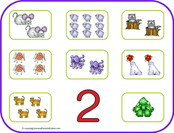 Number Mats, Flash cards and Clothes Pin Cards