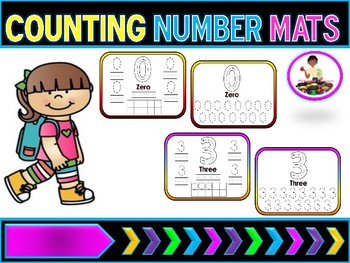 Number Writing Mats (Formation) 0-10 Number Recongintion