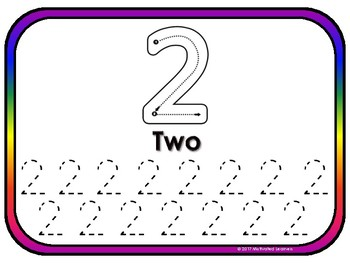 Number  Mats (Formation) 0-10 Number Recongnition Play-Doh Mats