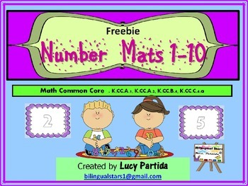 Number Mats Play Doh 1-10 Freebie Bilingual Stars Mrs Partida