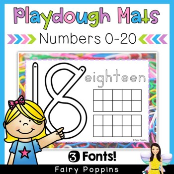 Number Play Dough Mats (Write and Wipe) Zaner-Bloser and Australian Font