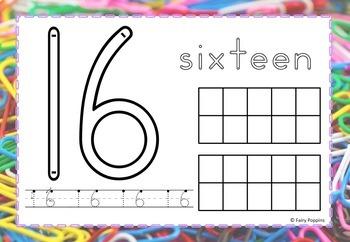 Number Play Dough Mats (Zaner-Bloser & Australian Fonts)