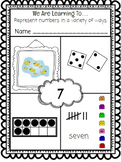 Number Mats - Ways to Show numbers 1-20