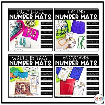Number Mats for Fine Motor Skills and Number Sense