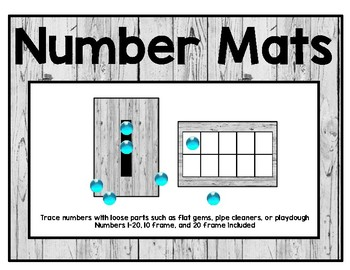 Number Mats for Loose Parts