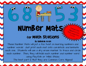 Number Mats for Math Stations {Common Core Aligned: K.CC.A.3}