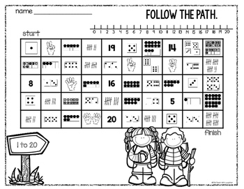 Number Maze - 1 to 20