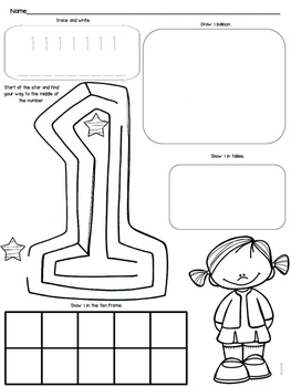 Number Maze Activity Cards and Worksheets