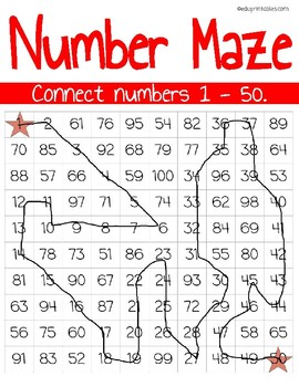Number Maze: Connect Numbers 1 Through 50