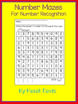 Number Mazes 0-9