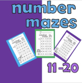 Number Mazes 11-20 Teen Number Recognition