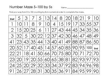 Number Mazes