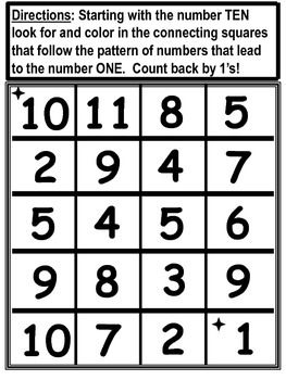 Number Mazes For Grade One and Two