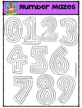 Number Mazes {P4 Clips Trioriginals Digital Clip Art}