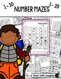 Number Mazes (Subitizing practice 1-10 and 1-20)