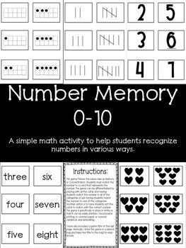 Number Memory 0-10