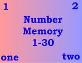 Number Memory 1 - 30