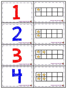 Number Memory Game (1-20 with Ten Frames) - Aligned with Common Core Standards