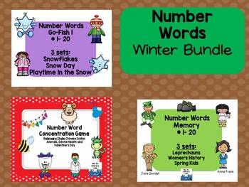 Number Memory Game Bundle (Winter)