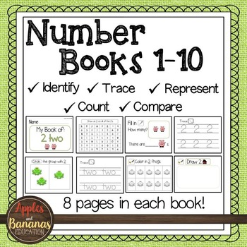 Number Books - Kindergarten 1-10