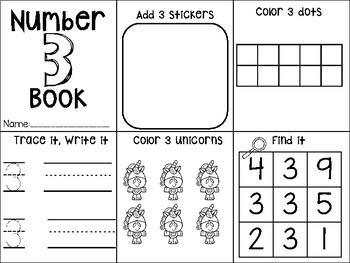 Number Mini Books- 1-20