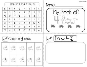 Number Mini-Books Kindergarten - Blackline Masters 1-20