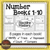 Number Mini-Books Kindergarten - Blackline Masters 1-10