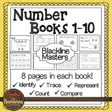 Number Mini-Books Kindergarten - Blackline Masters 1-10