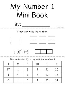 Number Mini Books {Numbers to 20}