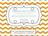 Number Mini Posters {1-20} & Ordinal Number Cards  With a Chevron Flair