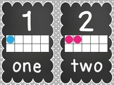 Number Mini Posters {1-20} with Tens Frames- Pretty Polka