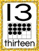 Ten Frame and Twenty Frame Number Mini Posters- Animal Print/Safari Theme