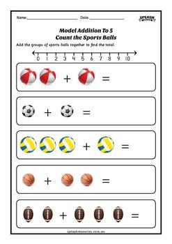 Number: Model Addition to 10 Maths Workbook
