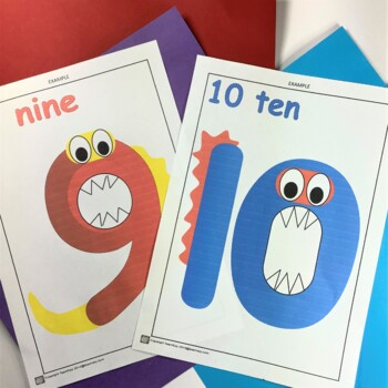 Number Monster Craft 1 to 10