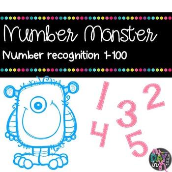 Number Monster: Number Recognition