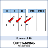 Multiplying & Dividing 1 - by powers of 10 (+ worksheet)
