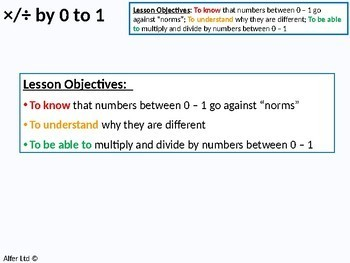Number: Multiplying & Dividing 2 - by numbers 0 to 1 (+ resources)