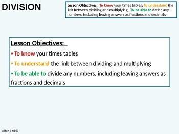 Number: Multiplying & Dividing 5 - Short & Long Division (+ worksheet)